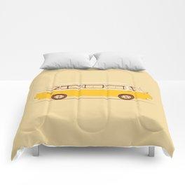 Yellow Van II Comforters