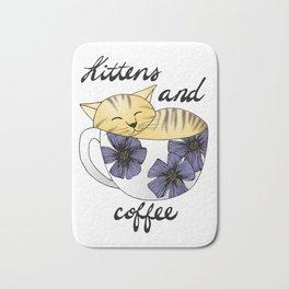 Kittens and Coffee Bath Mat