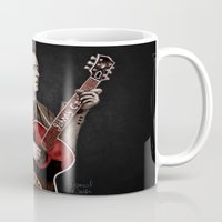 johnny cash Mugs featuring Johnny Cash by Daniel Cash