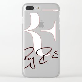 RF Logo Roger Federer Perfect Tennis Clear iPhone Case