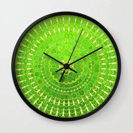 Light Green Floral Mandala Wall Clock