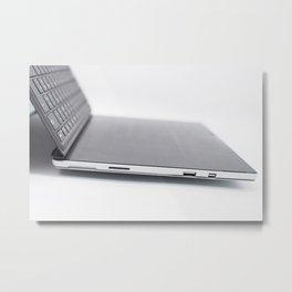Laptop and keyboard Metal Print