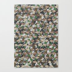 CUBOUFLAGE MULTI (small) Canvas Print