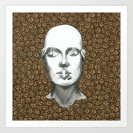 Buttoned up - Kraftpaper 8 Art Print