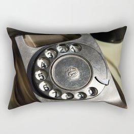 Retro rotary dial telephone Rectangular Pillow