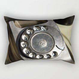 Retro rotary dial telephone Rectangular Pillow