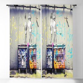 Banksy Peeing Boys Life is Short Chill The Duck Out Street Graffiti Canvas Art Wall Art Home Decor Blackout Curtain