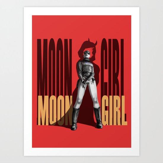 Moon Girl Epic Art Print