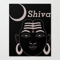 shiva Canvas Prints featuring SHIVA by Michael J. Chavez