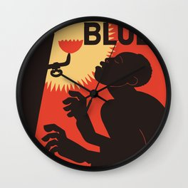 Retro The Weary Blues (music) Wall Clock