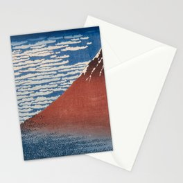 Katsushika Hokusai - Fine Wind, Clear Morning (Gaifū kaisei) (1830) Stationery Cards