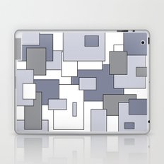 Squares - gray, purple and white. Laptop & iPad Skin