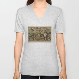 Vintage Illustration of Various Dog Breeds (1893) Unisex V-Neck