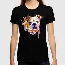 English Bulldog Head T-shirt