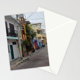 Streets of Mexico - Isla Mujeres, Mexico Stationery Cards