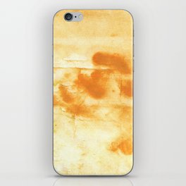 Blond abstract watercolor iPhone Skin