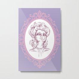 "Bubblegum Gore Gibson Girl, ""Classic"" Style Metal Print"