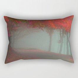 Crimson Path Rectangular Pillow