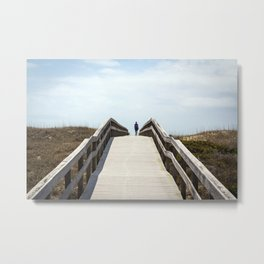 Ocracoke Pony Pen Boardwalk 2018 Metal Print