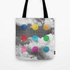 Storm Clouds + Colored Dots Tote Bag