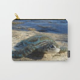 Green Sea Turtle Wool Sculpture Carry-All Pouch