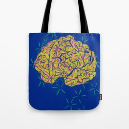 Floral Brain Tote Bag
