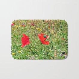 three flowers/Drei Blüten Bath Mat