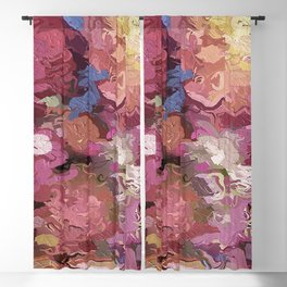 Abstract Flowers 1938 Blackout Curtain