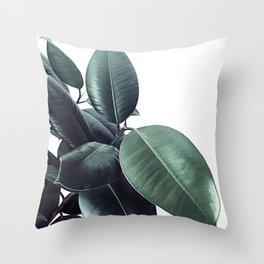Ficus Elastica #18 #White #foliage #decor #art #society6 Throw Pillow