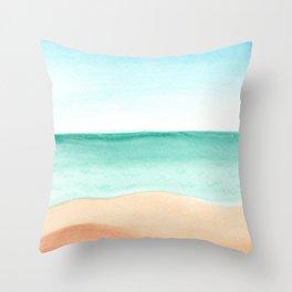 #89. DENNIS (Beach) Throw Pillow