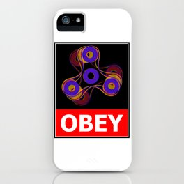 Obey the Figet iPhone Case