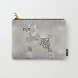 Luxury Pearl and Abalone Poodle Carry-All Pouch