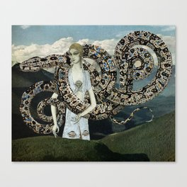 Serpents and Mountains Canvas Print