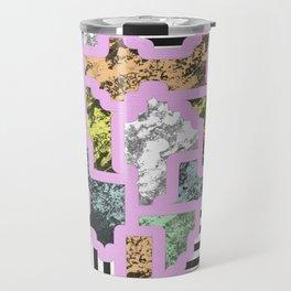 Paint Segregation - Abstract, geometric, multi patterned pop art Travel Mug