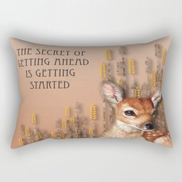 The Secret Of Getting Ahead Is Getting Started Rectangular Pillow