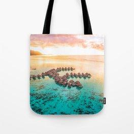 Bora bora Tahiti honeymoon beach resort vacation Tote Bag