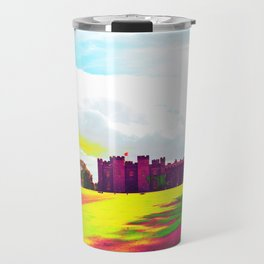 scone palace in technicolor Travel Mug