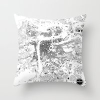 prague Throw Pillows featuring PRAGUE by Maps Factory