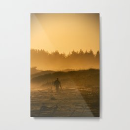 Sunset Walker Metal Print