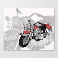 motorbike Canvas Prints featuring MotorBike by tuncay cavdar