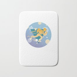 Mailbox Delivers Letters Collects Mail Courier Postman Mailperson Mailman Gift Bath Mat