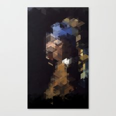 Panelscape Iconic  - Girl with a Pearl Earring Canvas Print