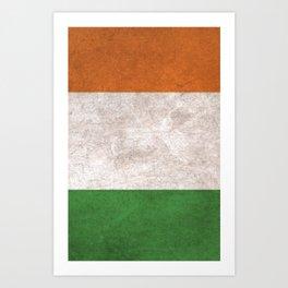 Ireland Flag (Vintage / Distressed) Art Print