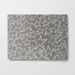 sidewalk chalk stars Metal Print