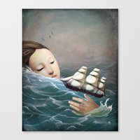 voyage Canvas Prints featuring Voyage by Christian Schloe