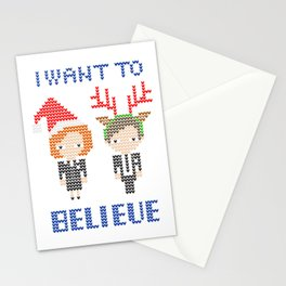 I Want To Believe: Christmas Edition Stationery Cards