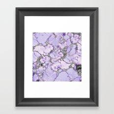 Lavender Marble Framed Art Print