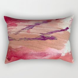 Blushing [4]: a vibrant, minimal abstract in pink, red, and purple Rectangular Pillow