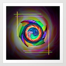 Abstract in perfection 121 Art Print