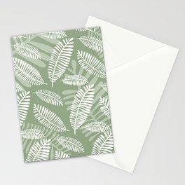 Palm Fronds . Sage Stationery Cards